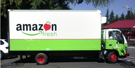 Amazon fresh food truck