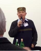 Rudolf Knoll mit Mützchen bei der Prowein 2008