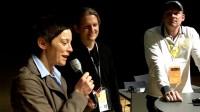 Simone Renth-Queins begrüßt Patrick Johner und Dirk Würtz zur Best-Practice-Runde