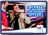 real Plakatwerbung Wein