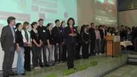 Prof. Dr. Ruth Fleuchaus mit ihren Studenten beim 5. Weinmarketing-Tag