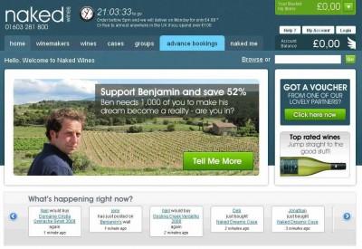Homepage Naked Wines