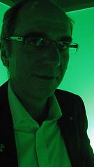 Ulrich-M Breutner in grünem Licht