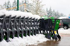 Shopping carts im Winter