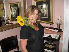 Dianne showing off - Comtesse Thérèse Bistro foto:mpleitgen