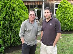 David Wrigley MW und Kareem Massoud - Paumanok Vineyards