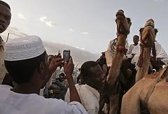 Mobiles Internet bei einer Veranstaltung in Darfur