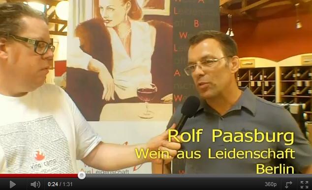 Großstadtwinzer Daniel Mayer mit Rolf Paasburg