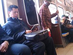 Morgens in der Subway