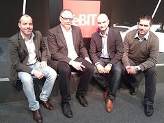 Gäste mit Moderator Dominik Mühl, Michael Pleitgen, Paul Truszkowski, Alexander Ultes