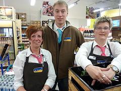 Das Team vom Zisch Markt in Stralsund