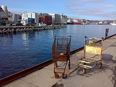 Bergen - Shopping carts at sea