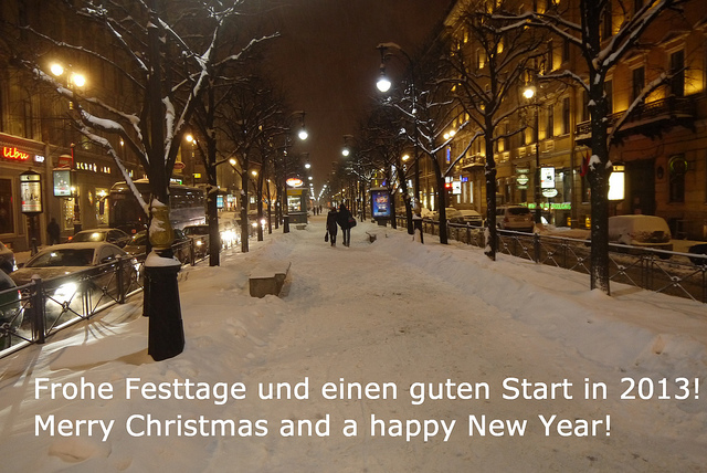 Frohe Festtage und einen guten Start in 2013! Merry Christmas and a happy New Year!