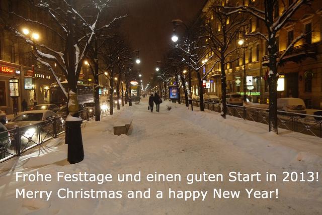 Frohe Festtage und einen guten Start in 2013! Merry Christmas and a happy New Year!