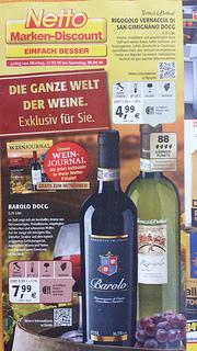 Prospekt zum neuen NETTO Weinkonzept KW 14/14