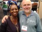 Mario Scheuermann mit Nomhle Zondani von der Township Winery bei der Cape Wine 2012
