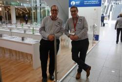 David und Nic von WSET waren hochzufrieden - ihre 40 SEminar-Plätze waren permanent ausgebucht Foto: Weinakademie Berlin