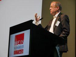 Prof. Gerrit Heinemann beim Weinfachhändlertag 2017 in Heilbronn